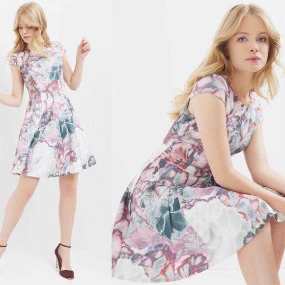 3242ed51 Ted Baker Dresses | Mah Illuminated Bloom Skater Dress | Poshmark